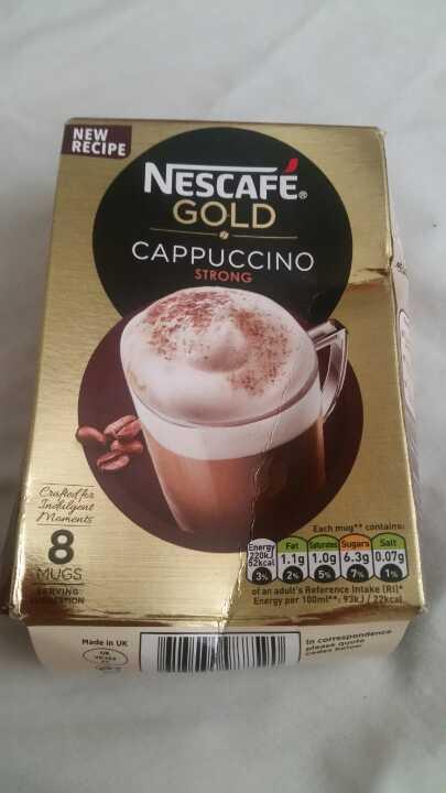 Nescafe gold cappucino