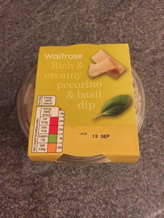 Pecorino and basil dip