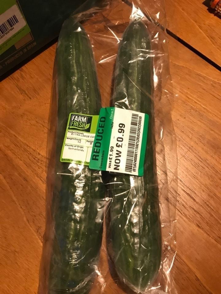 2 x large cucumbers