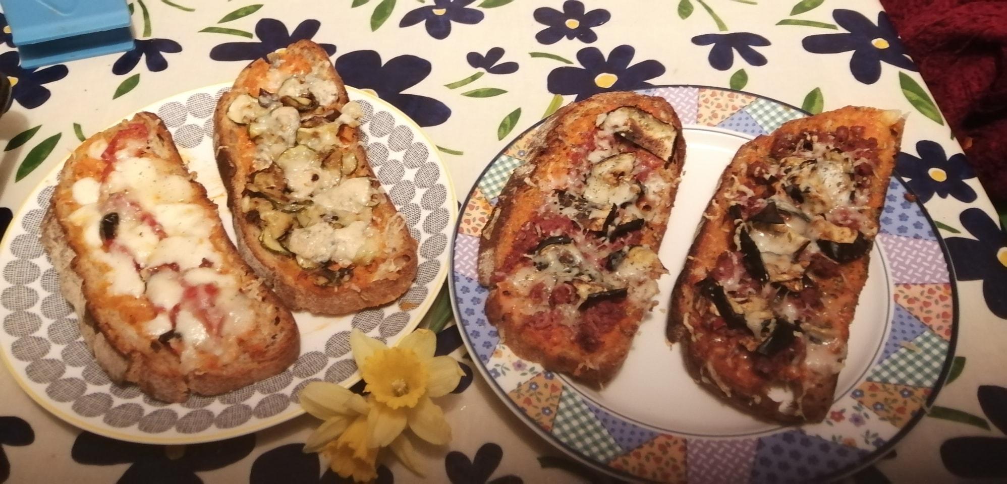 Bruschettas - with Provola cheese donated by Va Pensiero Lounge