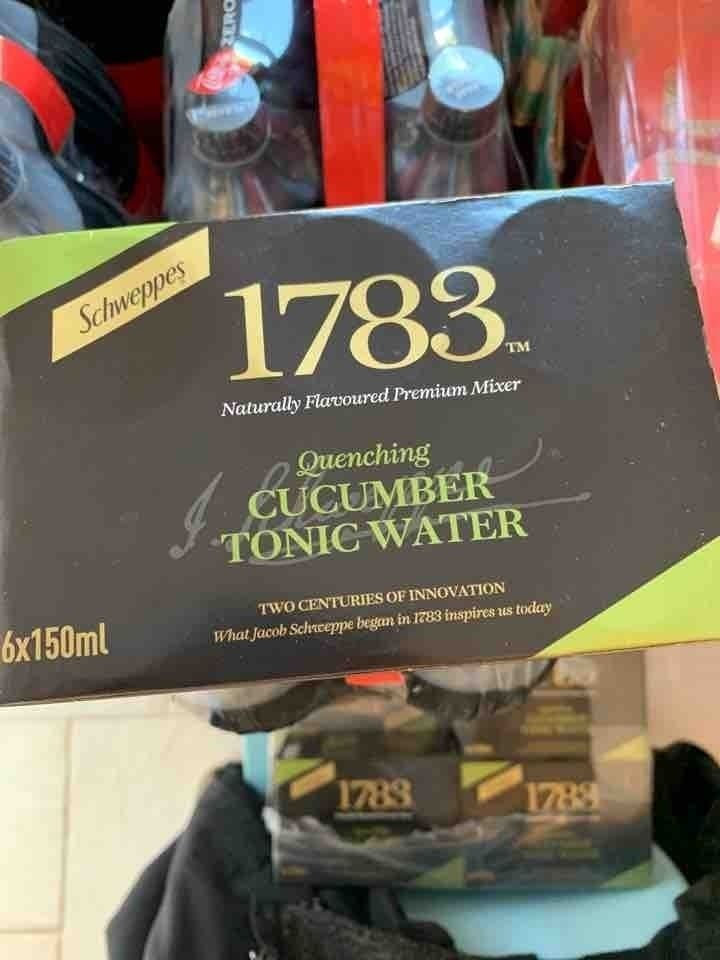 Cucumber tonic water
