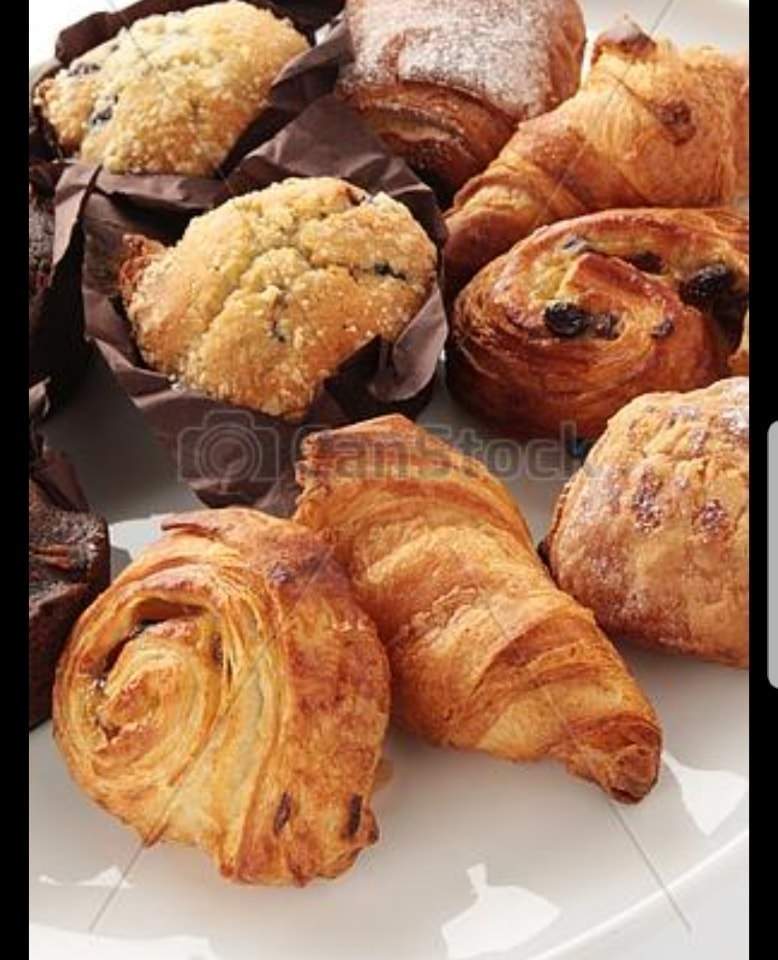 Mixed selection of Tesco pastries.