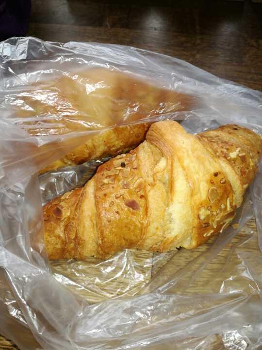 2 x almond croissant