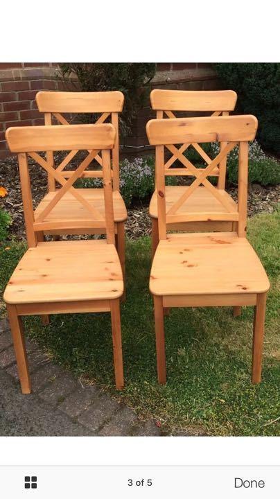 Ikea ingolf dining chairs x 4
