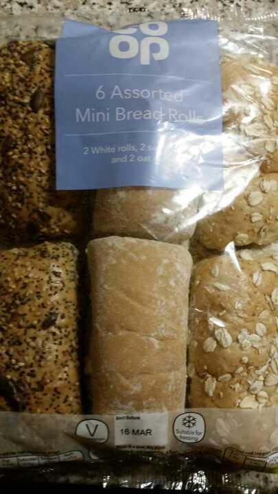 Assorted mini bread rolls