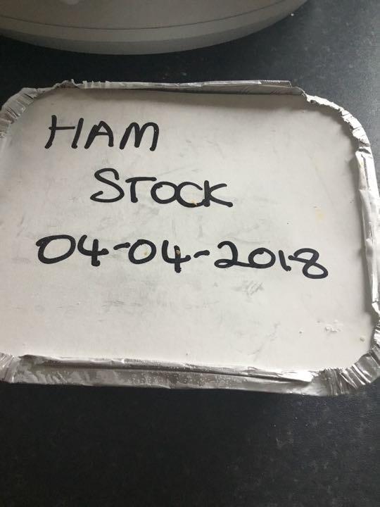 Home made ham stock soup base