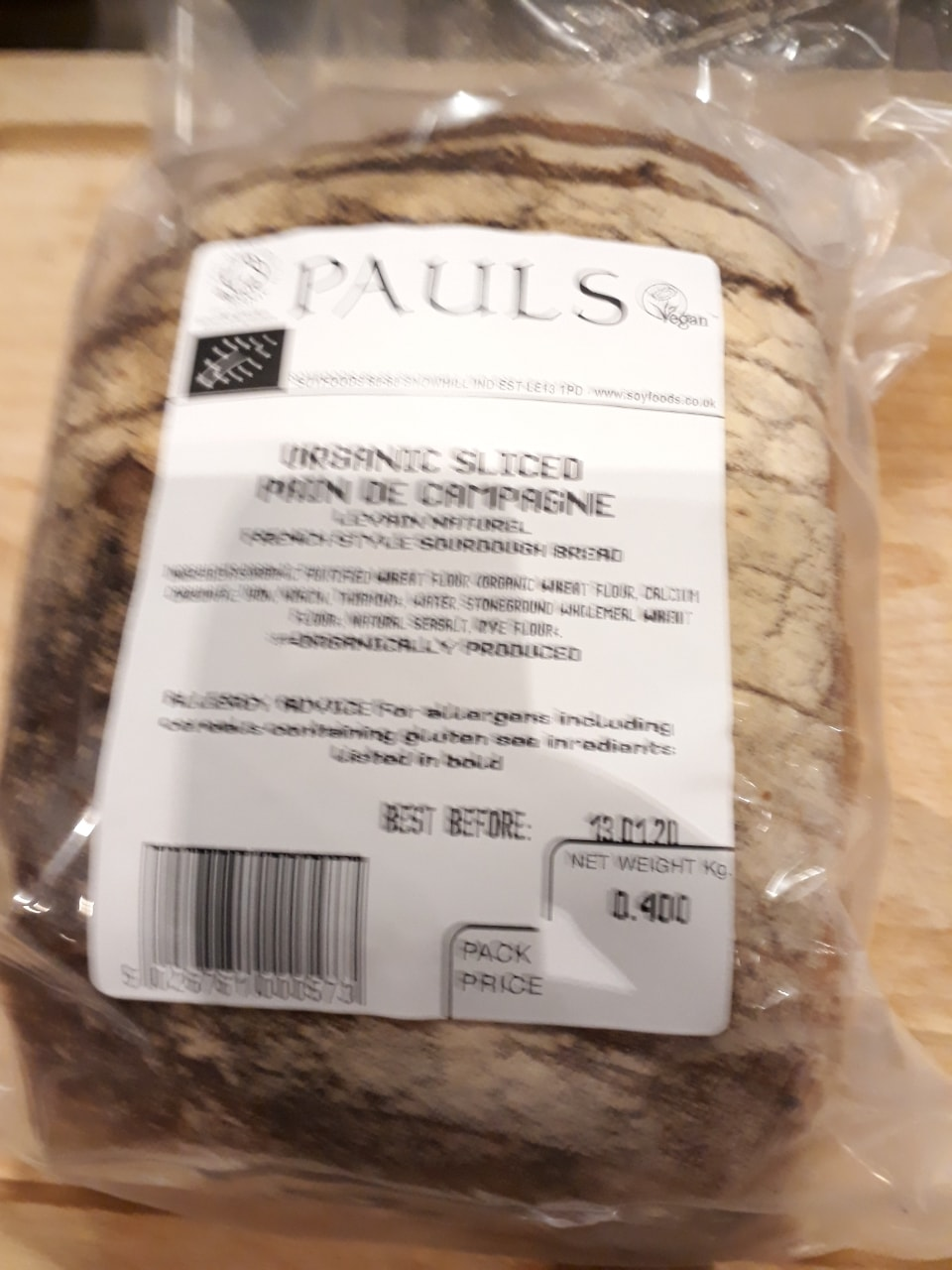 Loaf of bread From Planet Organic