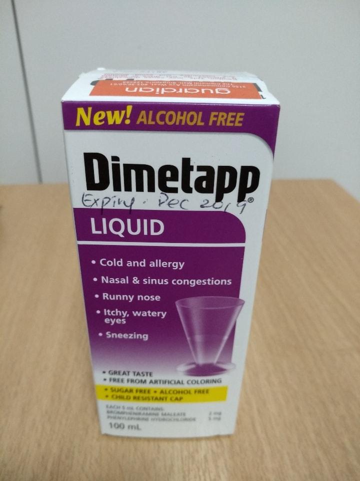 Medicine- for Cold - Dimetapp (Expire 8 Dec 19