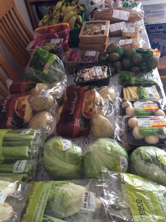 Selection of fruit and veg
