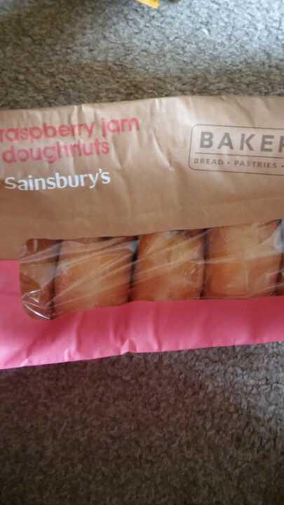 Raspberry jam doughnuts