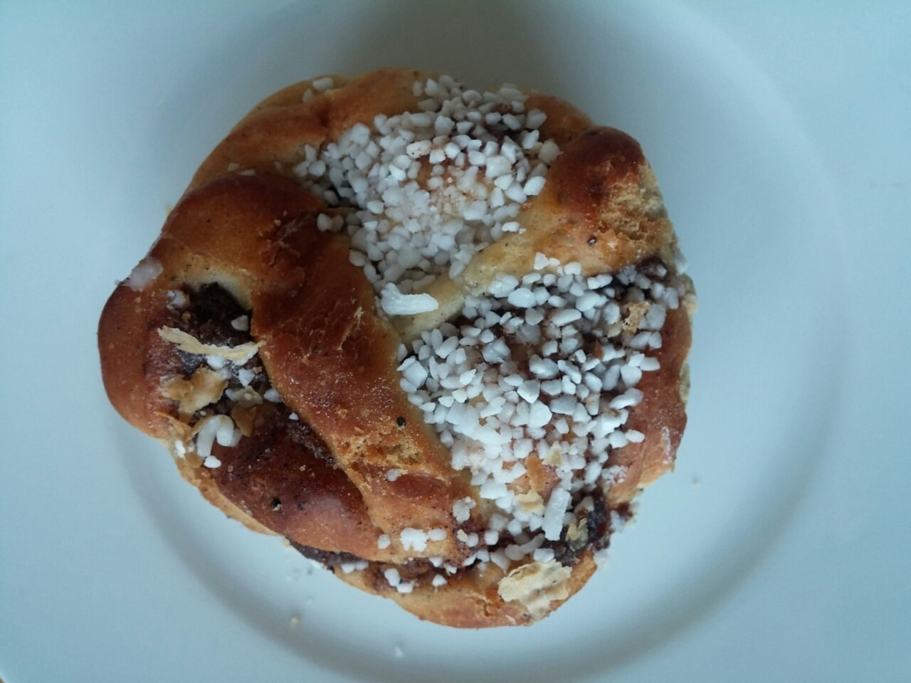 1x Cinnamon bun from Caffe Nero