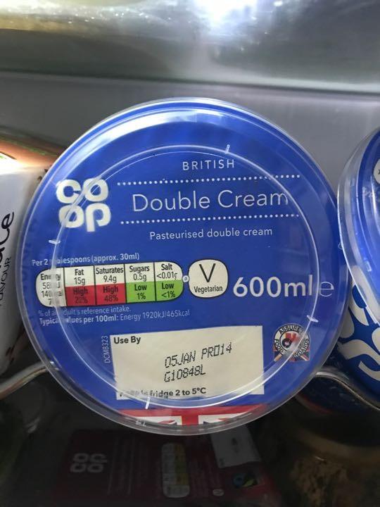 Double cream x2