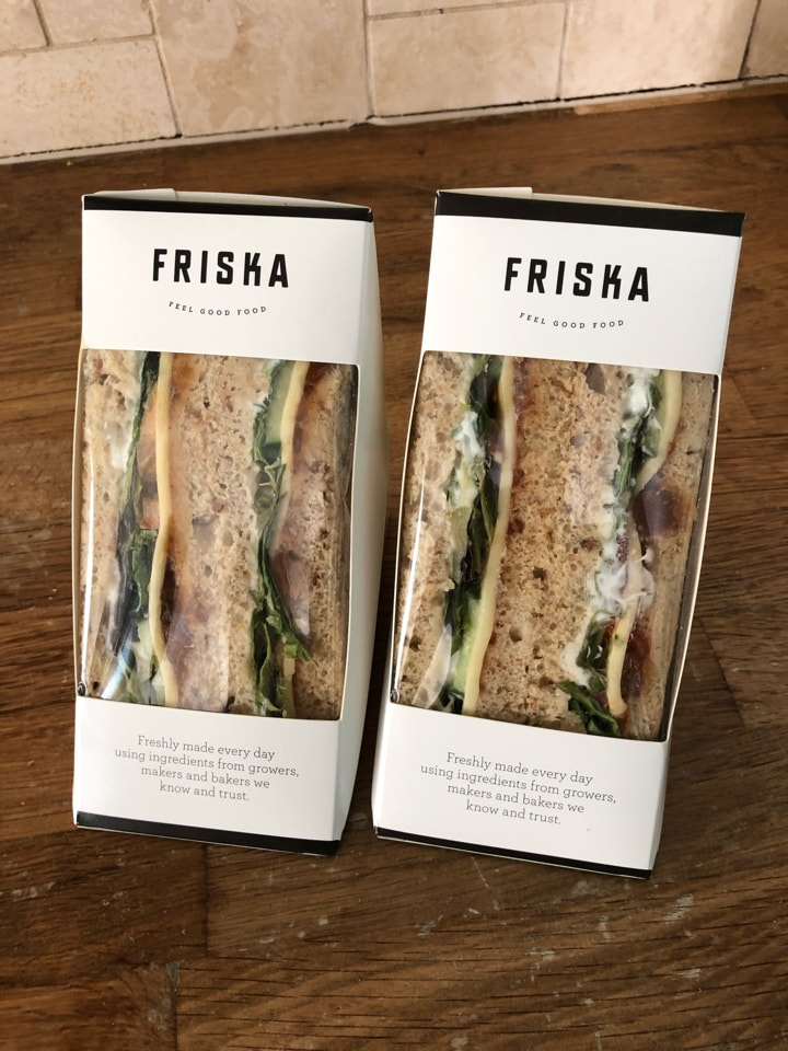 FRISKA Cheese ploughmans sandwiches