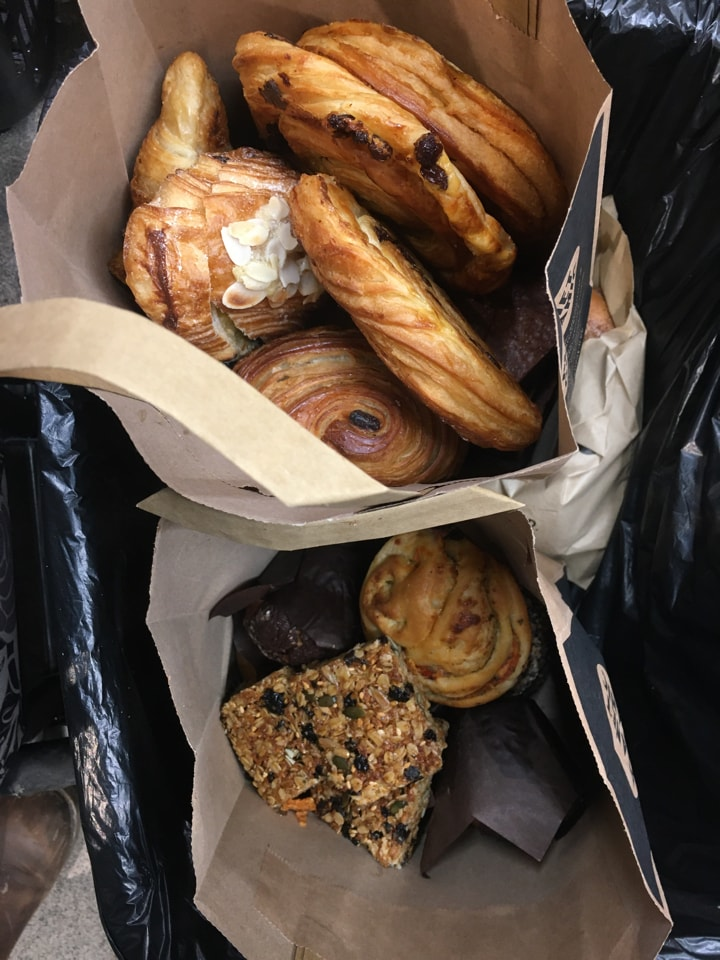 Selection of pastries from Planet organic