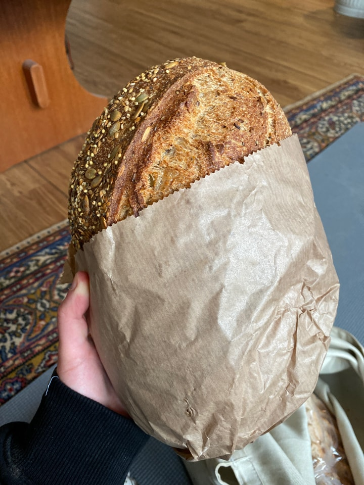Two Large Seeded Sourdough