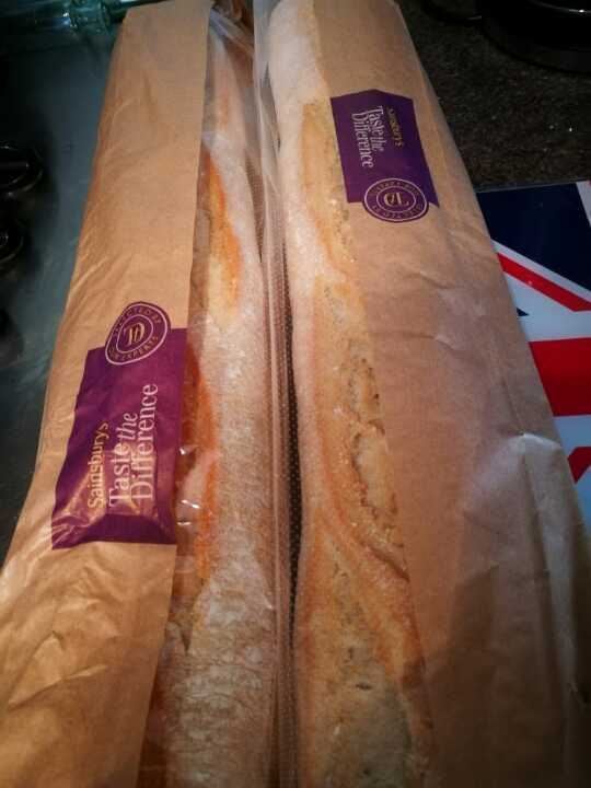 2 x taste the difference baguettes.