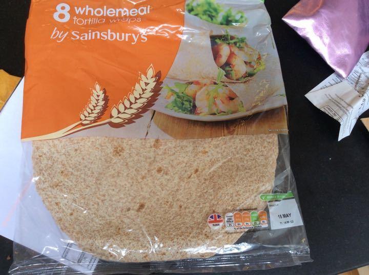6 wholewheat tortilla wraps