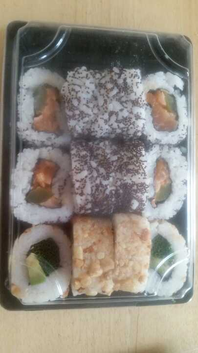 Sushi platter from Bento