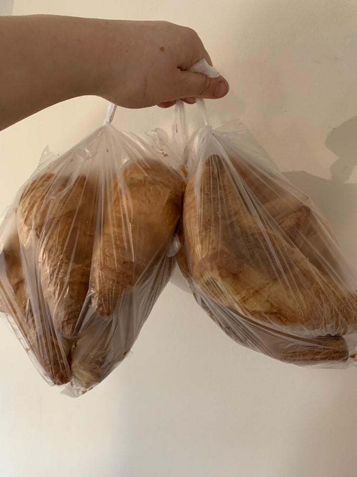 2 x bags of plain croissants