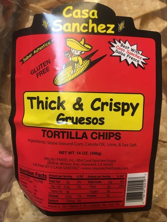 Thick and crispy tortilla chips