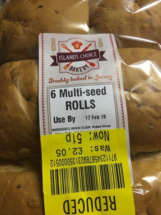 6 multiseed rolls