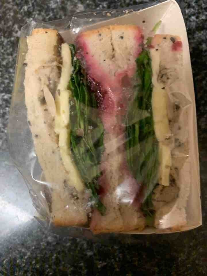 Brie,cranberry and nut stuffing sandwich from selfridges