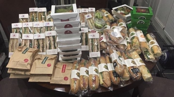 Sunday 7:00pm collection Pret A Manger from Cross Street