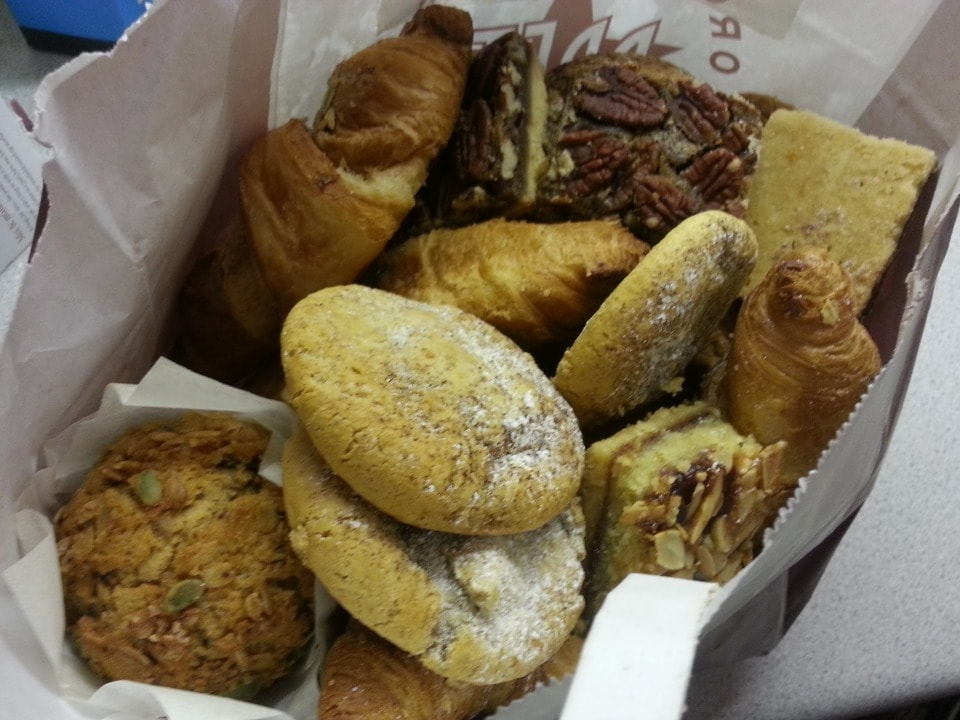 Pret pastries, Friday night pickup