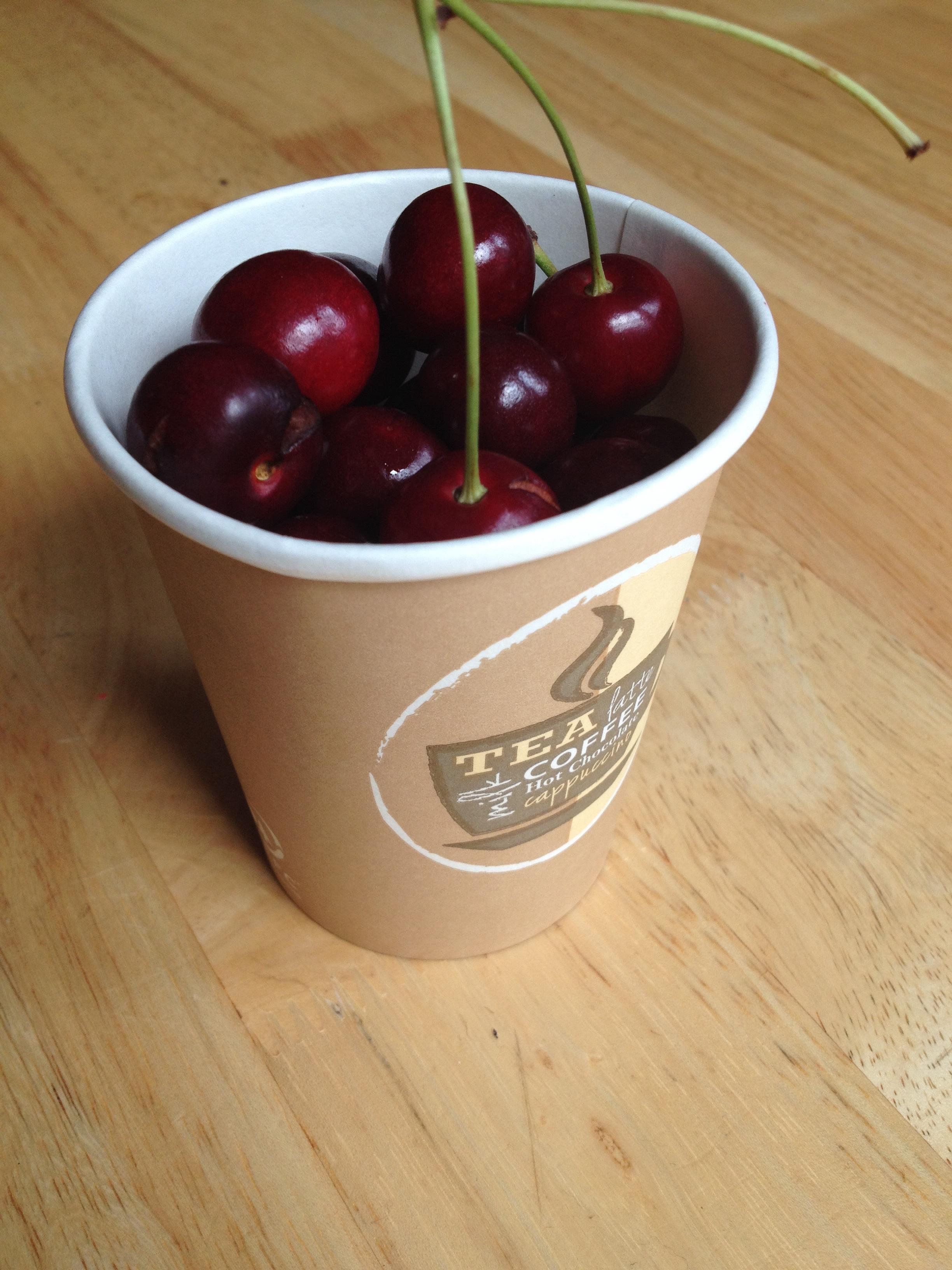 Cherries from tree