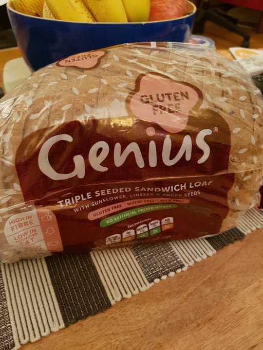 Genius gluten free triple seeded sandwich loaf