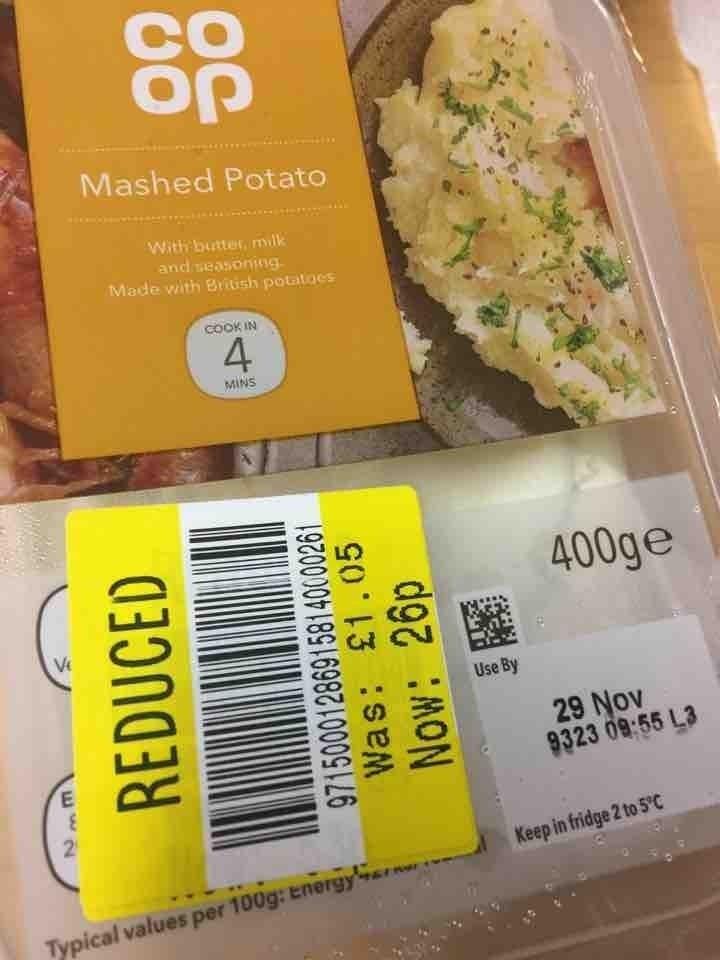 Mashed potato (frozen)