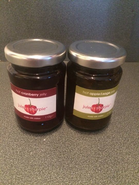 2 jars Jules & Sharpie hot jelly