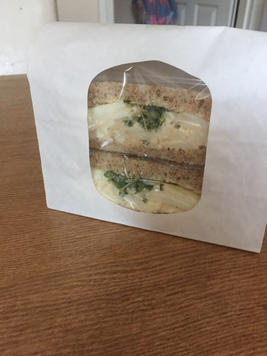 Egg mayo on brown