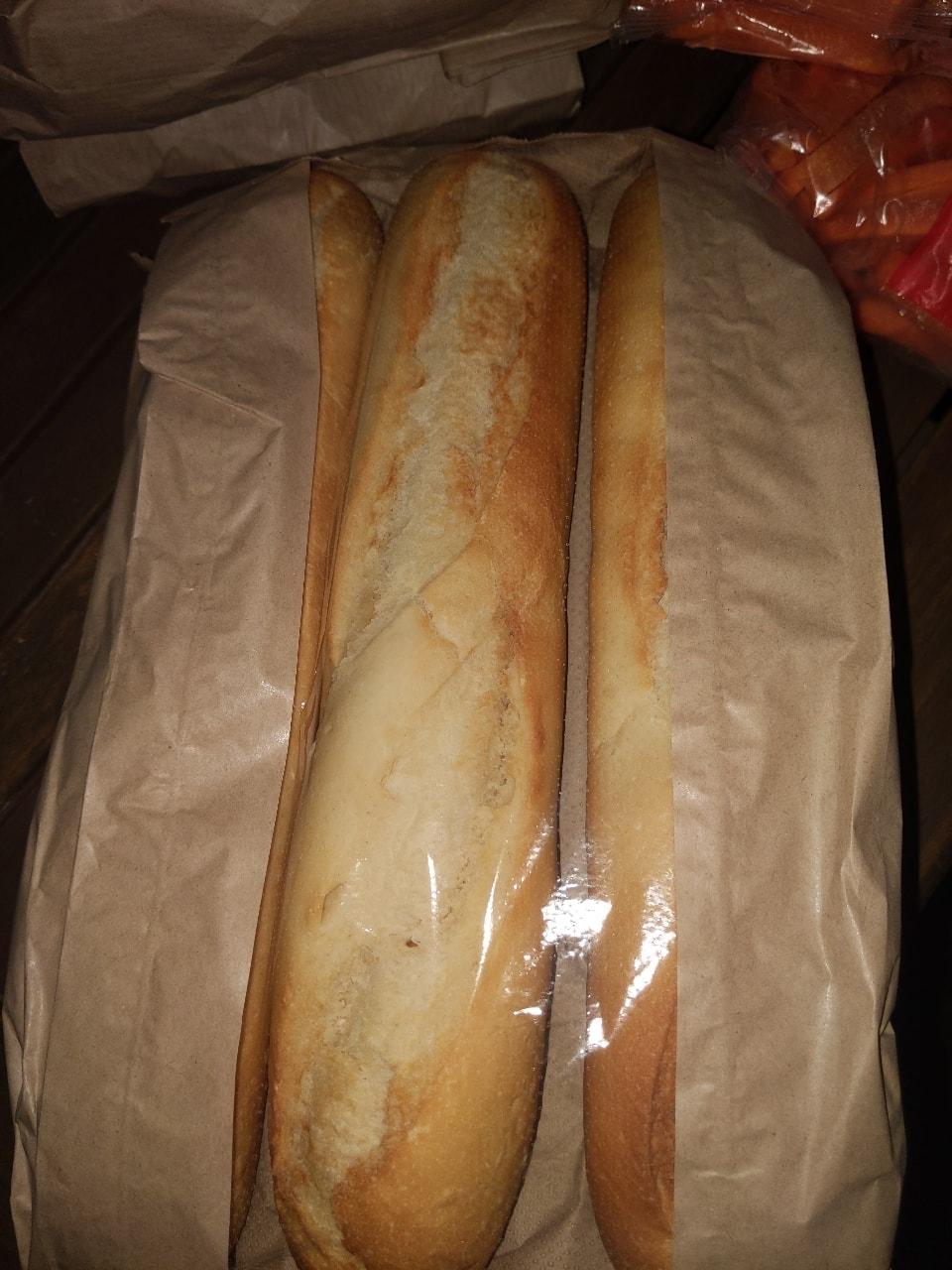3 demi baguettes