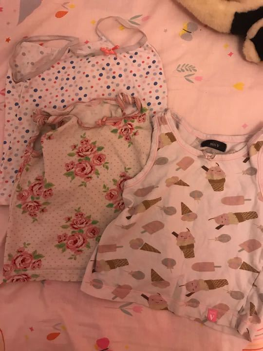 Girls vests x3