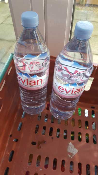 1.5ltr water x 2 bottles