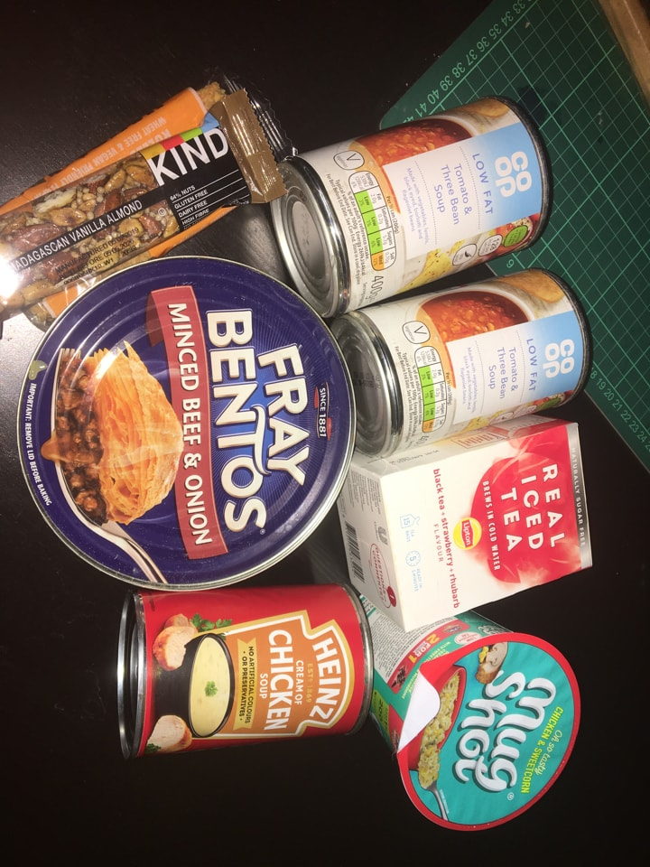 Unwanted food for quick collection