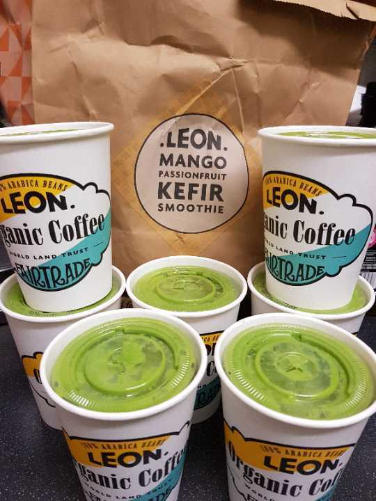 Fresh healthy smoothie from LEON