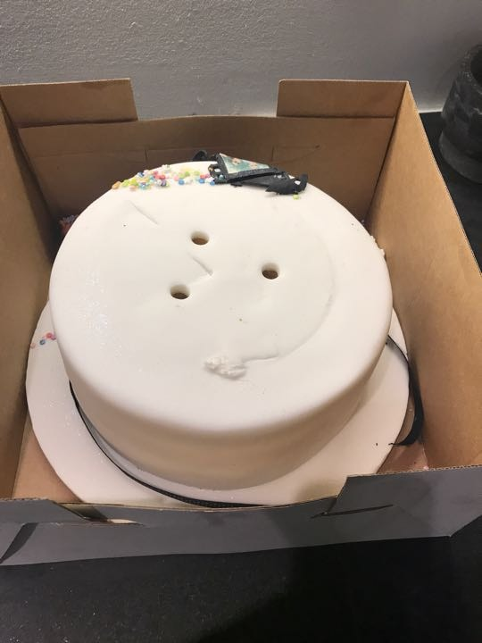 Whole tier of birthday cake