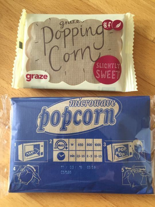 Sweet and salty microwave popcorn packets