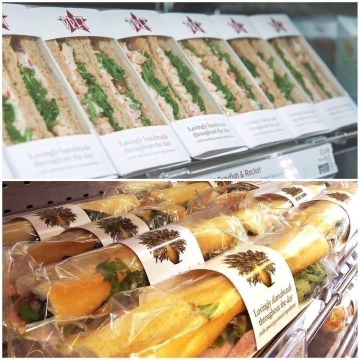 Pret a Manger sandwiches. Wednesday night 10:30 pm -10:45 pm