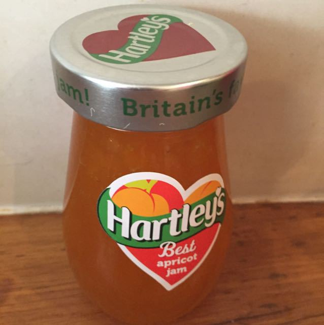 Opened apricot jam