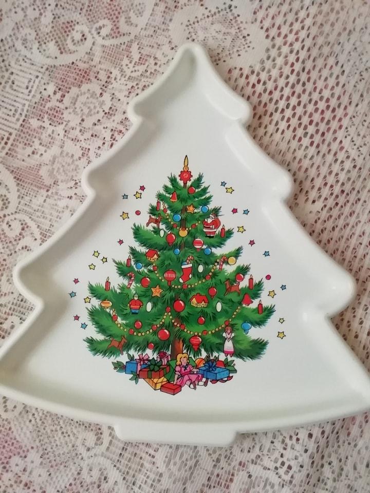 Charola arbolitos de navidad