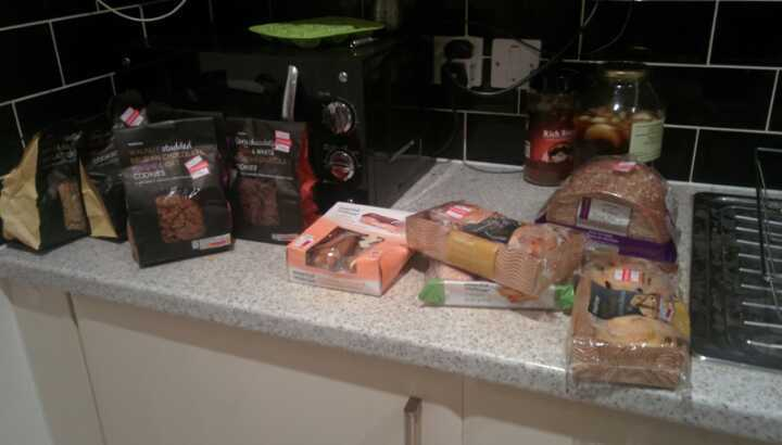 A huge variety of deluxe cookies, wholewheat bread and other pastries