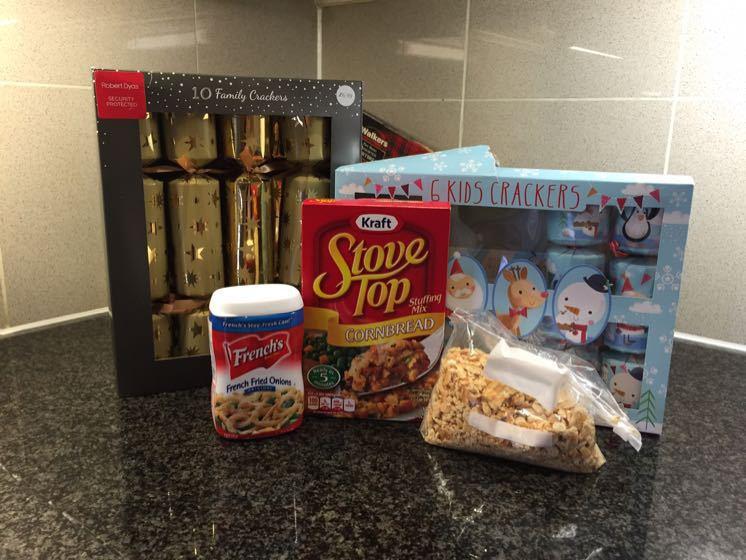 Christmas Dinner Ingredients - British Meets American!