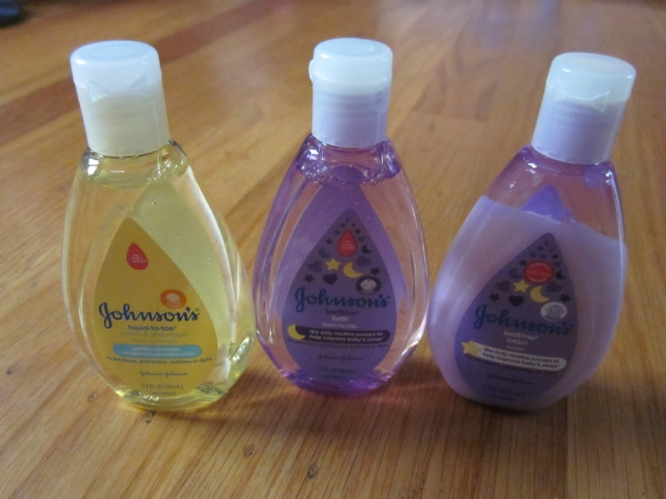 Baby lotion, wash, and shampoo (Johnson's- 50mL each)