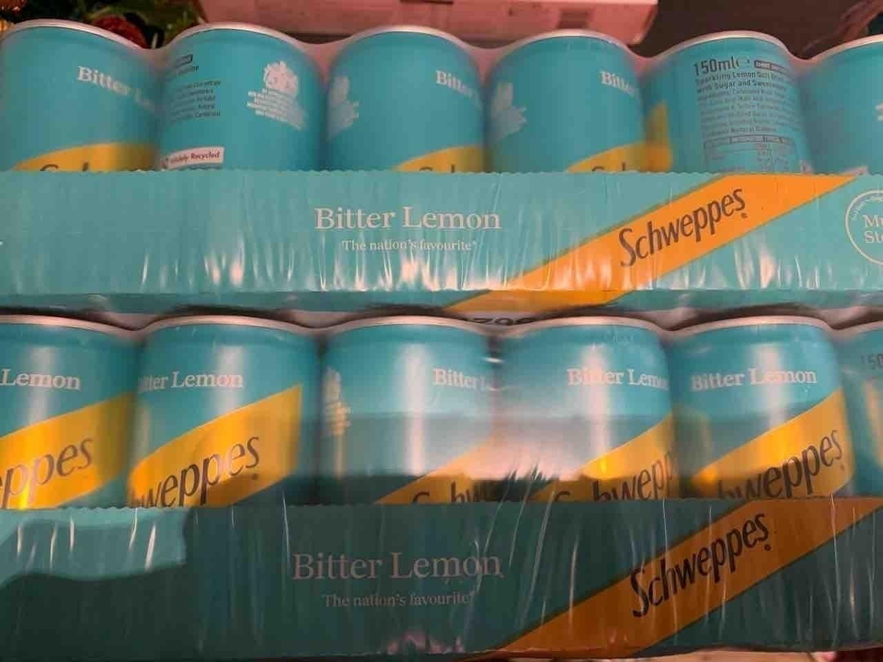 Small 150ml cans bitter lemon