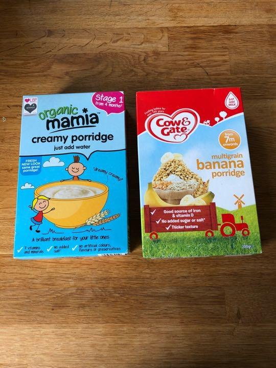 Baby porridge.