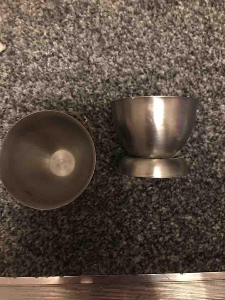 Metal egg cups