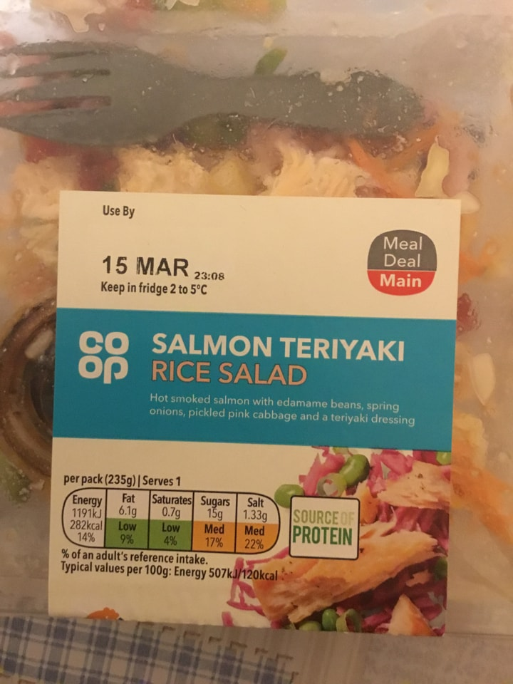 Salmon teriyaki rice salad